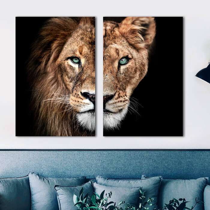 leeuwenkop leeuw en leeuwin