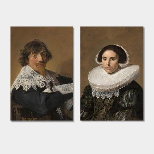 portret van een man en vrouw