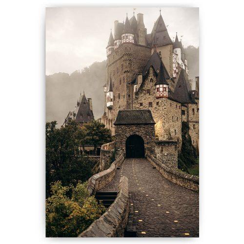 mistig kasteel