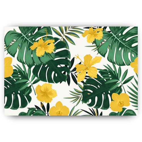 tropische bladeren bloemen