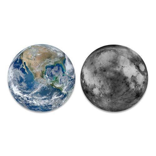 maan aarde ronde schilderijen