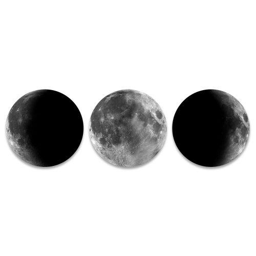 maanfases rond schilderij