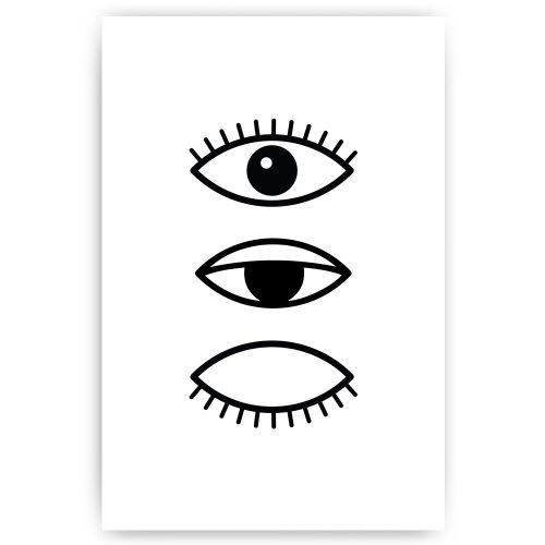 knipperende ogen